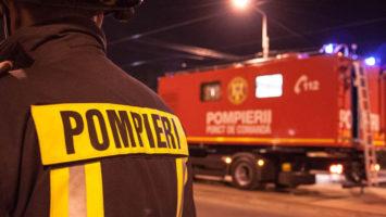 Un camion a luat foc la Dej