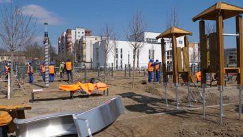 Lucrările la Parcul Între Lacuri din Cluj-Napoca se apropie de finalizare