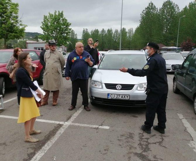 Protest la Cluj pentru respectarea Constituției. Participanții au fost legitimați și vor fi aplicate sancțiuni