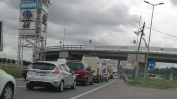 Lucrările de modernizare de la intrarea în Cluj-Napoca îngreunează traficul